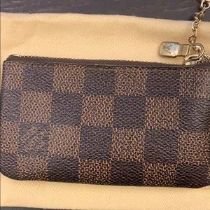 Louis Vuitton Accessories - Louis Vuitton Key Cles Pouch Damier Ebene
